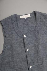 HAVERSACK Indigo Linen Vest - un.regard.moderne