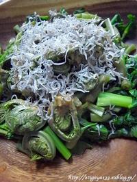 山菜サラダとアスパラの出汁煮 - 丁寧な生活をゆっくりと2