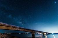 古宇利大橋と昇る天の川 - 風景とマラソンと読書について語るときに僕の撮ること