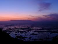 明け行く越後平野 - デジタルで見ていた風景