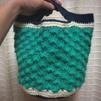 麻ひもが届いて、本体編み上がりました。 - +you