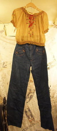 70's denim French - carboots