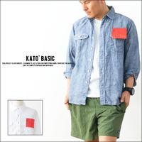 KATO' BASIC[カトー ベーシック] LINEN WORK SHIRTS [BS410077] MEN'S - refalt   ...   kamp temps