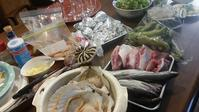 バーベキューと皿洗い - 牡蠣を煮ていた午後