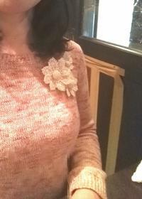 レース編み 花モチーフのブローチ - Atelier-gekka ハンドメイドのおはなし