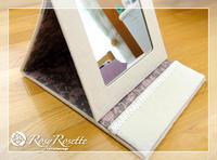 キラキラのコンパクトミラー&美味しいランチ♪ - Rosy Rosette カルトナージュ日記