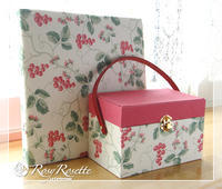 セットで可愛らしく♪ - Rosy Rosette カルトナージュ日記