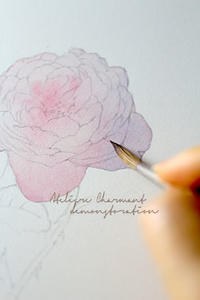 薔薇のデモンストレーション - Atelier Charmant のボタニカル・水彩画ライフ