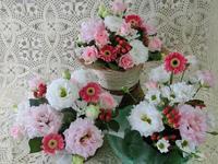 今日のお稽古花 ~アレンジメント~ - 花とaromaとうさぎとかのん