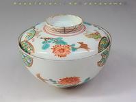 色絵菊蝶文蓋茶碗 - 疾風谷の皿山…陶芸とオートバイと古伊万里と