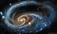 ハッブル宇宙望遠鏡が捉えたアンドロメダ座の美しい姿した渦巻銀河UGC1810 - 秘密の世界        [The Secret World]