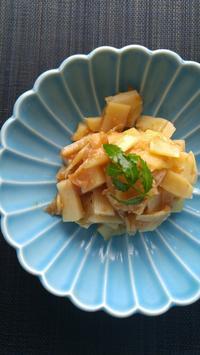 たけのこの梅みそ煮 - 料理研究家ブログ行長万里  日本全国 美味しい話