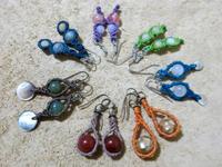 【マクラメ&ヘンプ】#117 マクラメ結びのピアス達 - Shop Gramali Rabiya   (SGR)