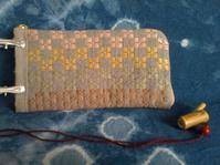 麻糸で長財布 - グルグルと菱