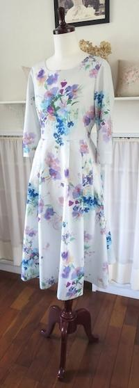ワンピース『夏のアミラ』 - いつかリリアン・ギッシュのように…手作りお洋服のあとりえ便り
