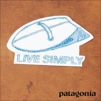 patagonia [パタゴニア正規代理店] LIVE SIMPLY HANDPLANE STICKER [92052] LIVE SIMPLY ステッカー - refalt   ...   kamp temps
