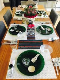 今月の料理教室のテーブルコーディネート - MotoのNY料理教室ライフ