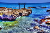 大洗海岸の海鳥居 - 風の香に誘われて 風景のふぉと缶