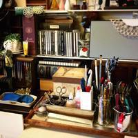 作業場をお片づけ。 - 『 紙とえんぴつ。』 kamacosan. 糸とビーズのアクセサリー