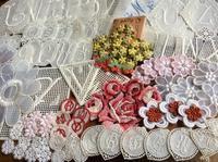 英文蕾絲標籤與手藝材料 - Little Flower
