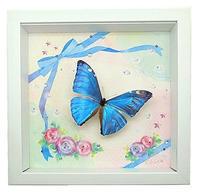 蝶とイラストのコラボ商品【Cute-blue】 - ** アトリエ Chica **