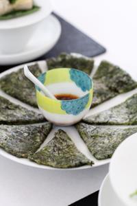 青海苔と沖縄もずくのもちもちぷちぷちチヂミ - in the kitchen