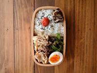 5/18(木)豚しゃぶの粒マスタード和え弁当 - おひとりさまの食卓plus