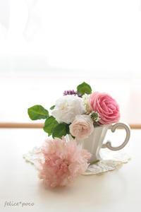 布花のカーネーション&バラ&母の日 - felice*poco