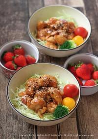 春キャベツたっぷり照り焼きチキン丼(๑¯﹃¯๑)♪ - **  mana's Kitchen **