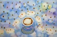 夜のコーヒー - 水の色時間