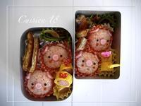 ブタさんのお弁当 - cuisine18 晴れのち晴れ