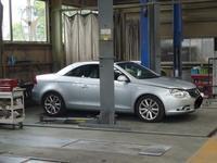 VW EOS(イオス)定期点検及びドライブシャフトブーツ交換 - 掛川・中央自動車