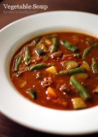 チリビーンズのリメイクで、野菜スープ&キャセロール - Kyoko's Backyard ~アメリカで田舎暮らし~