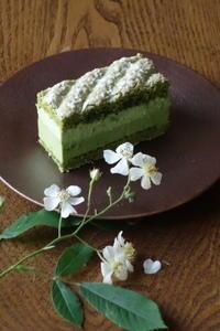 白い野ばらと抹茶のケーキ - Baking Daily@TM5