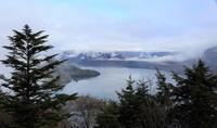 霧と雨の中禅寺湖でした - 山歩風景