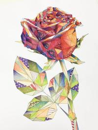 立体パズルぬりえ〜フラワー編〜 コピックで塗ってみました! - オトナのぬりえ『ひみつの花園』オフィシャル・ブログ