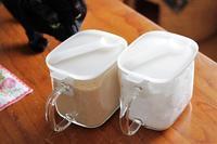 無印の調味料保存容器使いはじめました - きょうだい猫と仲良し暮らし