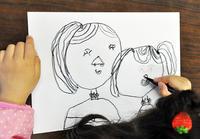 児童画クラス お母さんのガラス絵 - アトリエTODAYのブログ