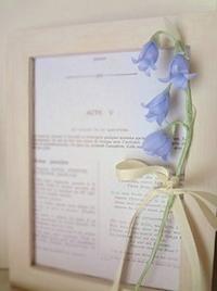 青いお花 - handmade flower maya