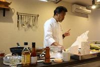 奥野シェフのイタリアンレッスン風景 - Rose ancient 神戸焼き菓子ギャラリー
