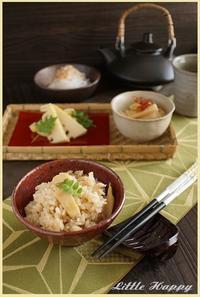 中華風味のタケノコご飯(レシピ) - ~Little Happy~