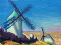 風車 - 絵を描きながら