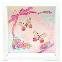 蝶とイラストのコラボ商品【Cute-pink】 - ** アトリエ Chica **