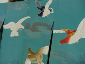 鳩の単衣羽織 - 中村かをる創作帯屋