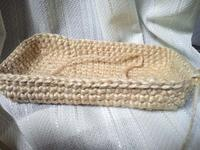 麻ひもバッグ編み始め - D-E