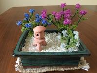 ビーズ盆栽 紫陽花寄植え Hortensias - 新・考えるサル