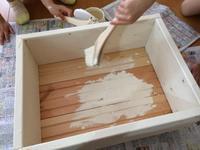 ペンキを塗りぬりぬり - *Smile Handmade* ~スマイルハンドメイドのブログ~