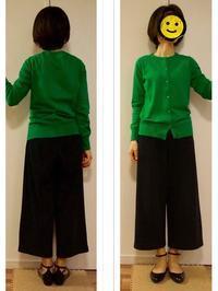 コーデ : 緑カーデ&紺ガウチョ〈ややカジュアル〉 - Mirror Mirror...