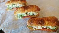 チャバタでポテサラサンド。 - 奈良県パン教室『パンといろいろ…。』
