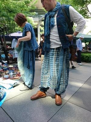 大江戸骨董市 5月 2 - 古布や麻の葉